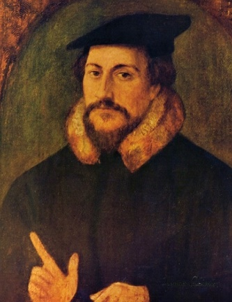 A portrait of John Calvin