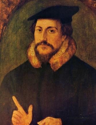 A portrait of John Calvin